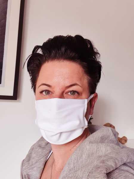 Wiederverwendbare Mund-Nasen-Maske, 2-lagig mit Ohrgummis