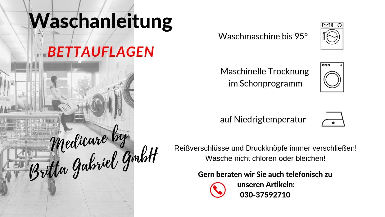 Waschanleitung - Bettauflage Molton - PREMIUM 100 x 200 cm