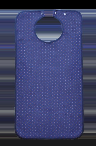 Ess-Schürze Polyester mit Druckknopfverschluss, blaugemustert 5572